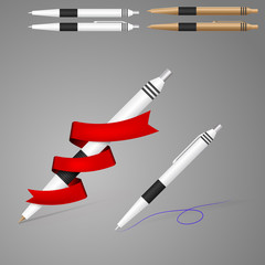 Illustration of pens