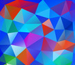 Triangle background. Colorful polygons.