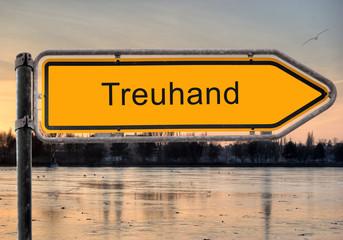 Strassenschild 9 -Treuhand