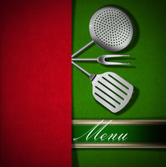 Menu Template - Red and Green Velvet