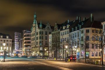 Hojbro Square in evening, Copenhagen