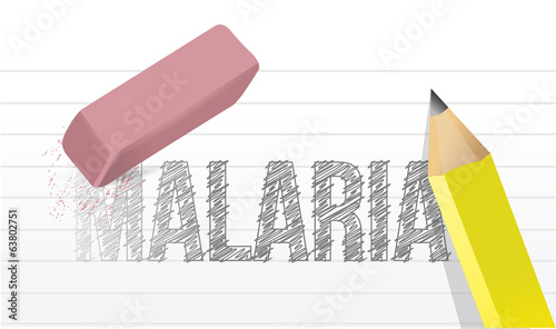 erase malaria disease illustration design