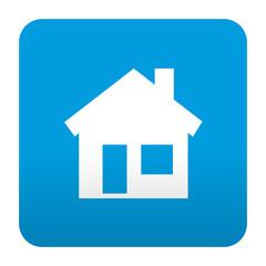Etiqueta tipo app azul simbolo hogar