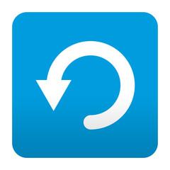 Etiqueta tipo app azul simbolo reiniciar