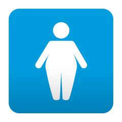 Etiqueta tipo app azul simbolo obesidad