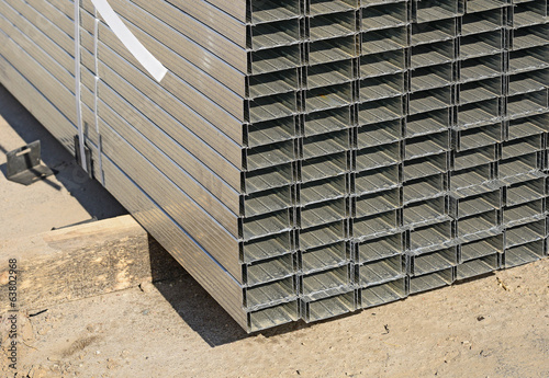 Pile of tin building profile