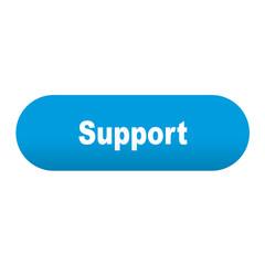 Etiqueta alargada azul Support