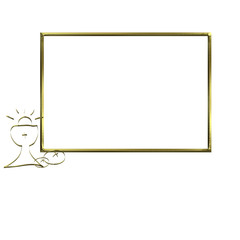 First Communion Invitation gold chalice photo frame