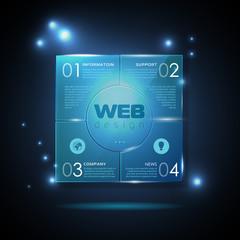 Website template design. Technology background