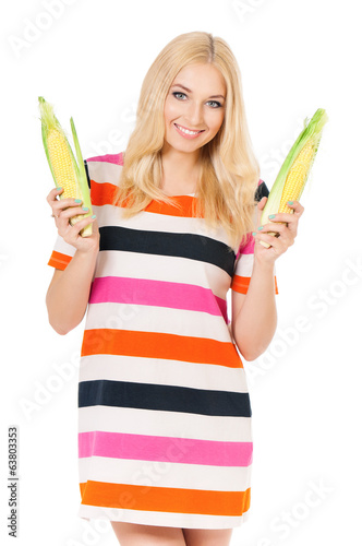 Woman with maize