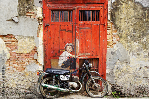 "Graffiti ""Boy on a Bike"" ."