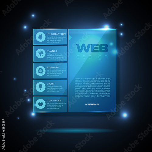 Website template design. Technology background