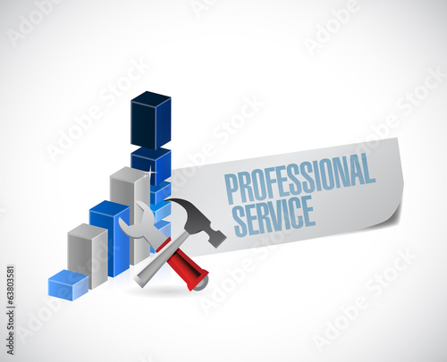 professional service sign illustration design