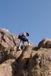 Mountaineer  looking down