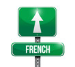 french sign illustration design