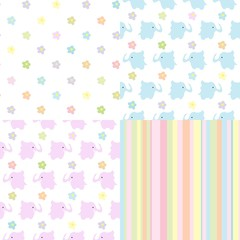 boy and girl Baby Seamless Background
