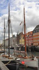 Kopenhagen, Altstadt, Nyhavn, Segelschiffe, Sommer, Dänemark