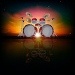 abstract background with drum kit