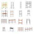 realistic 3d render of scaffolding set