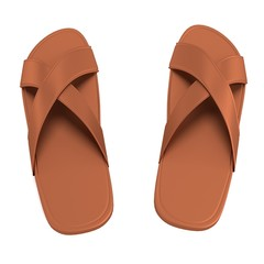 realistic 3d render of sandals