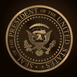 US Golden Presidential Seal Emboss - 63804359