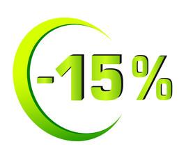 Rabatt - 1 - 15%
