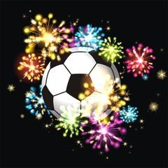 Feuerwerk mit Fussball