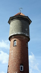 Water tower from 1922 on the Danish island Bornholm