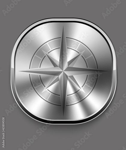 Metal compass icon