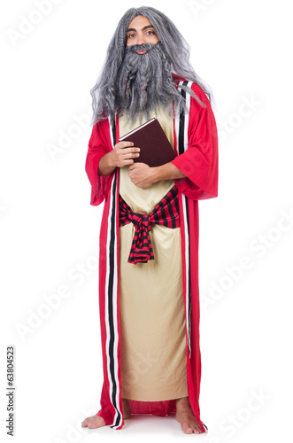 Old wizard isolated on the white background