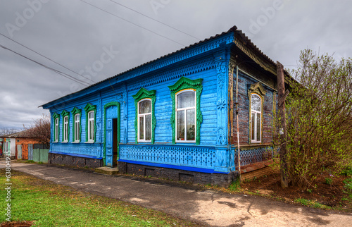 old wooden house in Poltava. Ukraine.