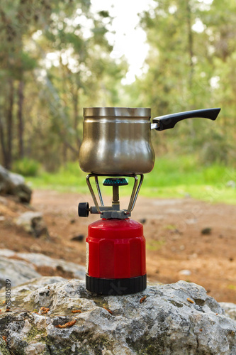 Coffee in the forest .