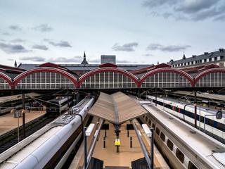 Central train station in Copenhagen