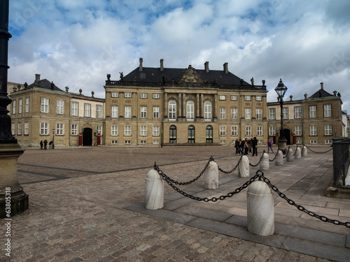 Amalienborg castle, residence of the Royal Danish family