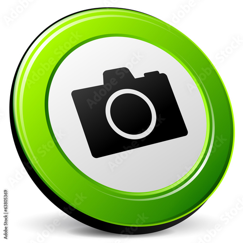 Vector camera green icon