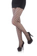Woman in fishnet stockings isolated on white