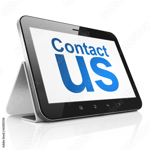 Advertising concept: Contact Us on tablet pc computer