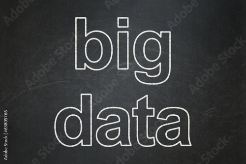 Information concept: Big Data on chalkboard background