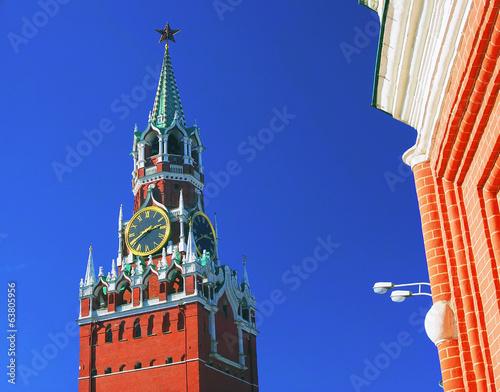 Moscow Kremlin. Spasskaya Tower, clock.