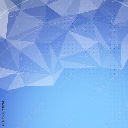 Blue bright crystal structure abstract background