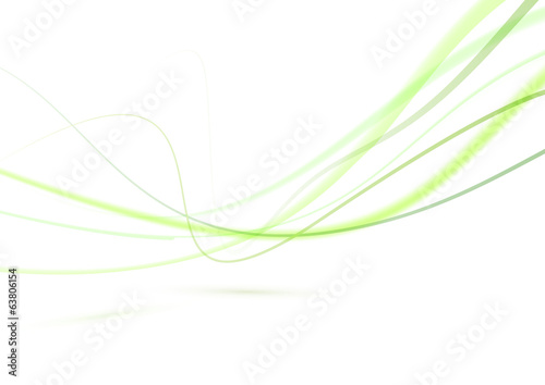 Abstract green swoosh lines background editable