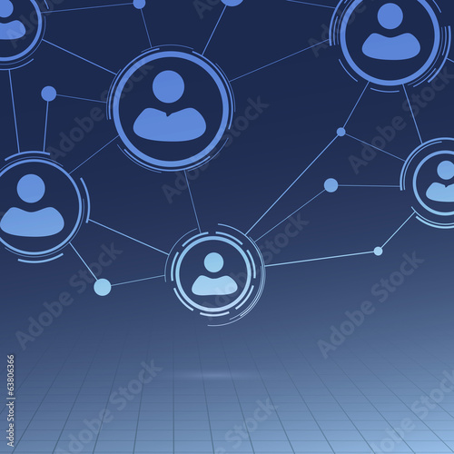 Social networking abstract geometrical background
