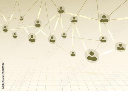 Modern bright social networking background