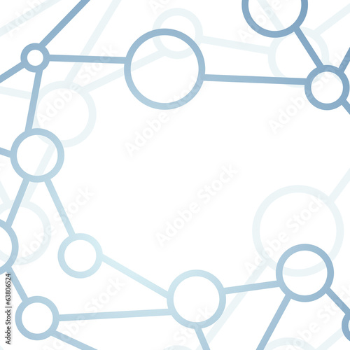 Modern intricacy atom structure network background