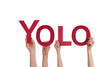 People Holding Yolo