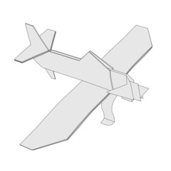 cartoon image of origami plane