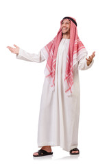 Arab man isolated on white