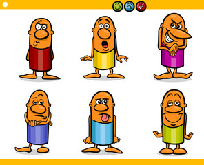 cartoon people characters emotions