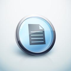 icône bouton internet fichier document