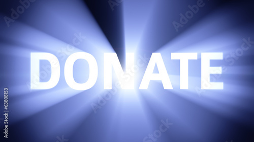 Illuminated DONATE